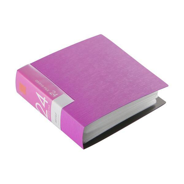 (まとめ) バッファローCD&DVDファイルケース ブックタイプ 24枚収納 ピンク BSCD01F24PK 1個 【×30セット】
