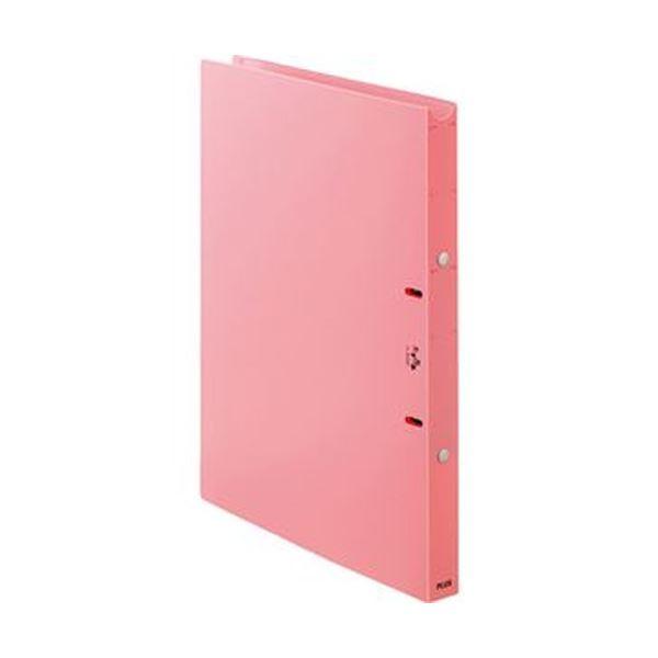 (まとめ)プラス たすけあ 利用者カルテリングファイル A4タテ 背幅24.5mm ピンク FL-804RF-PK 1冊【×20セット】