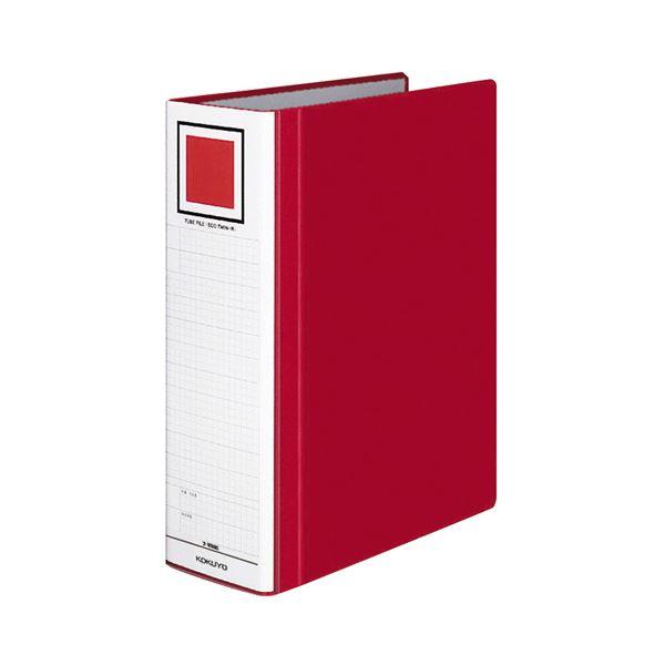 (まとめ) コクヨ チューブファイル(エコツインR) A4タテ 800枚収容 背幅95mm 赤 フ-RT680R 1冊 【×10セット】