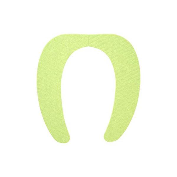 (まとめ) 便座シート/吸着べんざシート 【グリーン】 洗える トイレ用品 『レック ぴたQ』 【72個セット】