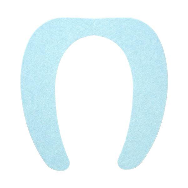 (まとめ) 便座シート/吸着べんざシート 【ブルー】 洗える トイレ用品 『レック ぴたQ』 【72個セット】