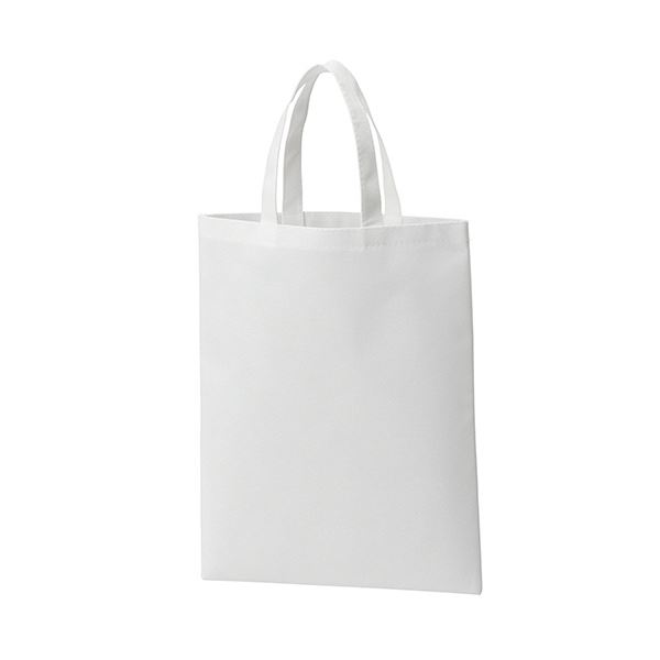 (まとめ) TANOSEE 不織布バッグ A4マチ無 ヨコ270×タテ350mm ホワイト 1パック(10枚) 【×10セット】