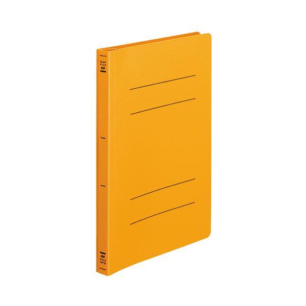 (まとめ) コクヨ フラットファイル(PP) B5タテ 150枚収容 背幅20mm オレンジ フ-H11YR 1セット(10冊) 【×10セット】