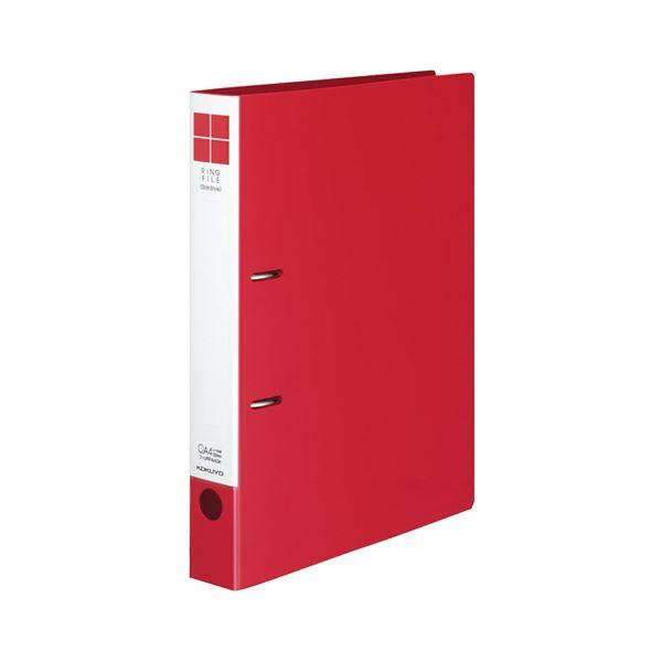 (まとめ) コクヨ リングファイル(スリムスタイル) A4タテ 2穴 330枚収容 背幅42mm 赤 フ-URF440R 1冊 【×30セット】