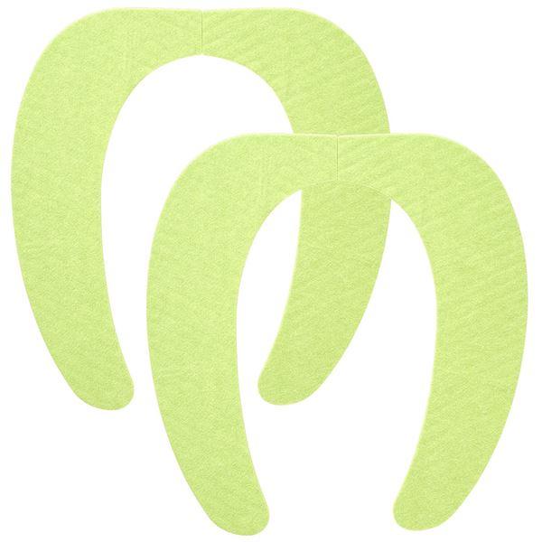 (まとめ) 便座シート/吸着べんざシート 【グリーン 2組入】 洗える トイレ用品 『レック ぴたQ』 【72個セット】