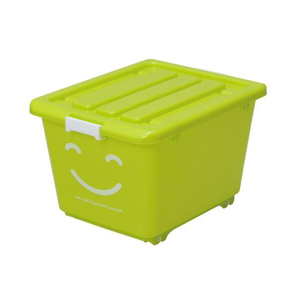 (まとめ) ハッピーケース/収納ケース 【グリーン ショート】 幅39cm ロック機能・キャスター付き お子様用 【×10個セット】