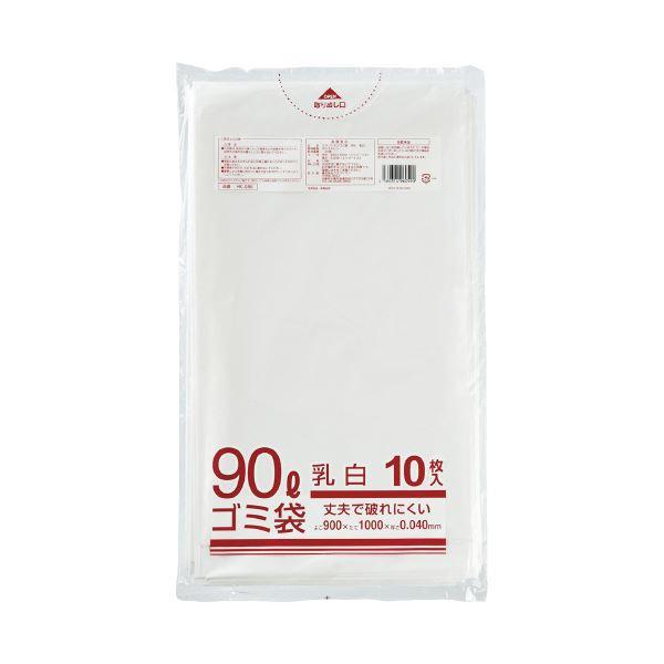 (まとめ)クラフトマン メタロセン配合ゴミ袋 半透明 90L 10枚(×20セット)