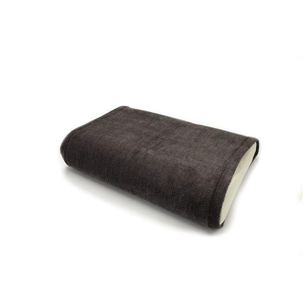 消臭機能付き 枕カバー 【ワイドサイズ 同色2枚セット チャコール】 枕サイズ50×70cm迄対応 綿混 日本製 『エアーかおる』 【代引不可】