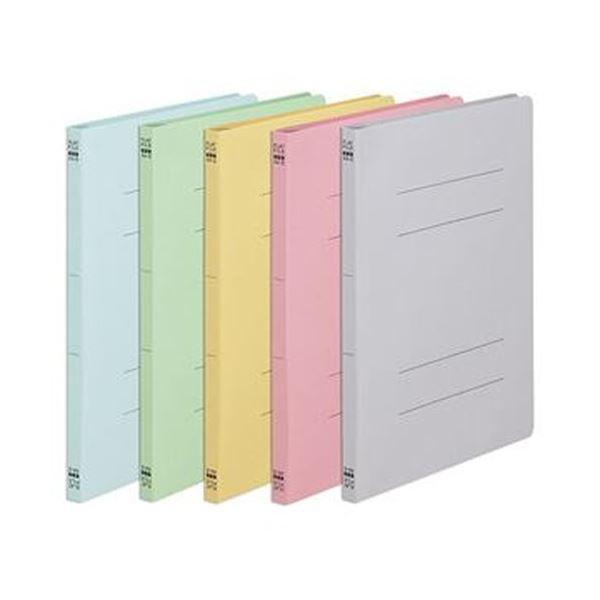 (まとめ)TANOSEE フラットファイル(ノンステープルタイプ)A4タテ 150枚収容 背幅18mm カラーミックス 5色 1セット(5冊:各色1冊)【×50セット】
