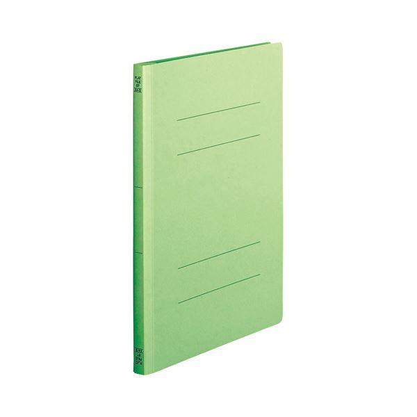 (まとめ) TANOSEE フラットファイル(スタンダードカラー) A4タテ 150枚収容 背幅18mm 緑 1セット(100冊:10冊×10パック) 【×5セット】