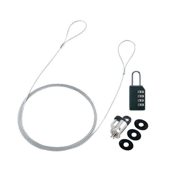 (まとめ) サンワサプライパソコンセキュリティワイヤーロック ダイヤル錠タイプ SL-60 1パック 【×10セット】