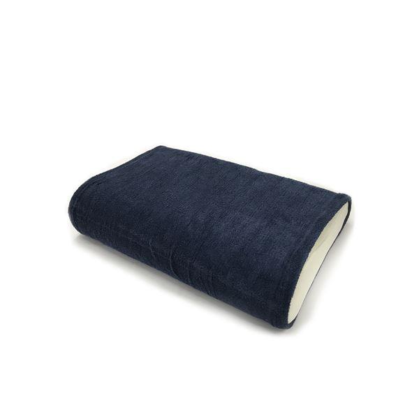 消臭機能付き 枕カバー 【ワイドサイズ 同色2枚セット ネイビー】 枕サイズ50×70cm 綿混 日本製 『エアーかおる』 【代引不可】