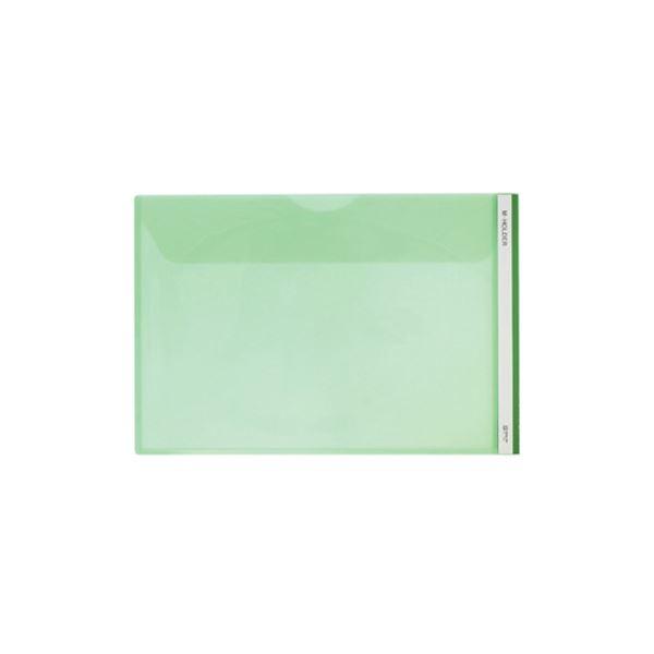 (まとめ) キングジム Mホルダー A4ヨコ 緑フタ付 733E 1セット(5枚) 【×10セット】