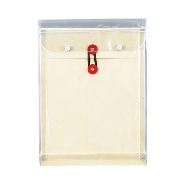 (まとめ) ピース マチヒモ付ビニール保存袋 レザック 角2 184g/m2 白 業務用パック 911-30 1パック(3枚) 【×10セット】