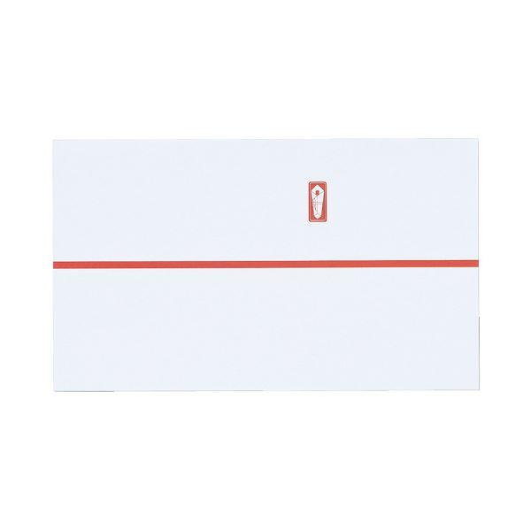 (まとめ)マルアイ 祝のし紙 赤棒 64N 100枚 コモ-N2(×100セット)