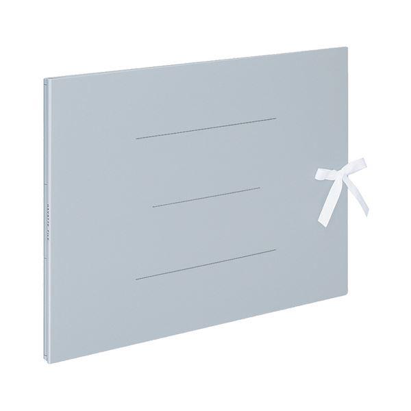(まとめ) コクヨ ガバットファイル(紙製) A3ヨコ(ひも付き) 1000枚収容 背幅13~113mm 青 フ-H948B 1冊 【×10セット】