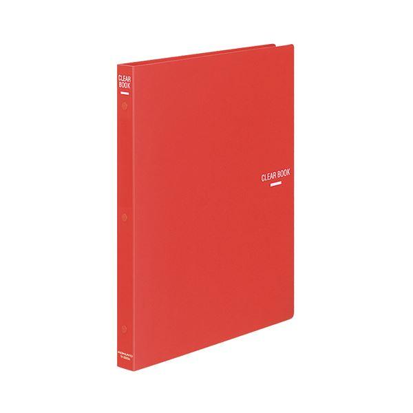 (まとめ) コクヨ クリヤーブック(クリアブック)(替紙式) A4タテ 30穴 18ポケット付属 背幅27mm 赤 ラ-320R 1冊 【×10セット】