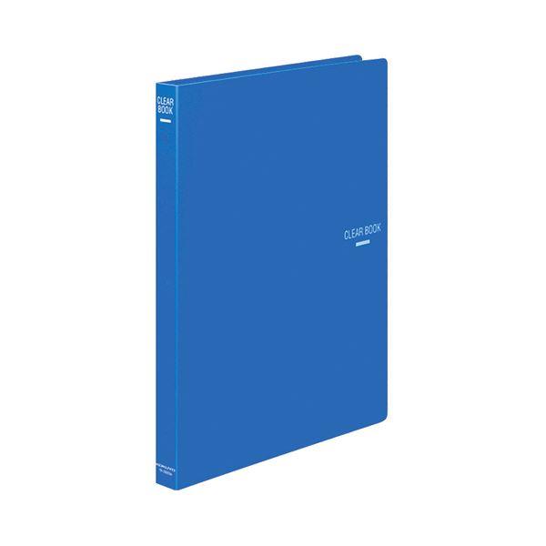 (まとめ) コクヨ クリヤーブック(クリアブック)(替紙式) A4タテ 30穴 18ポケット付属 背幅27mm 青 ラ-320B 1冊 【×10セット】