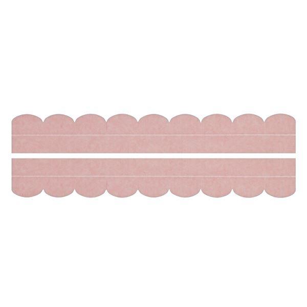 (まとめ) 便器すきまテープ/トイレ用品 【2枚入り ピンク】 カット可 簡単貼り付け・着脱 洗える 汚れ防止 【×200個セット】