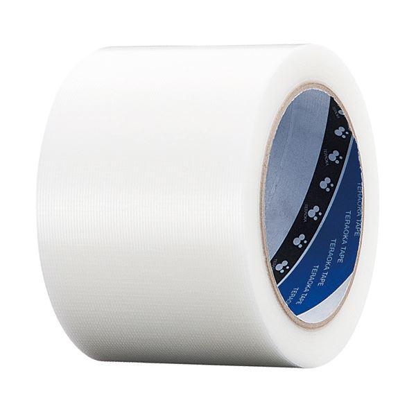 (まとめ) 寺岡製作所 養生用P-カットテープ 75mm×25m 透明 No.4140トウメイ75 1巻 【×30セット】