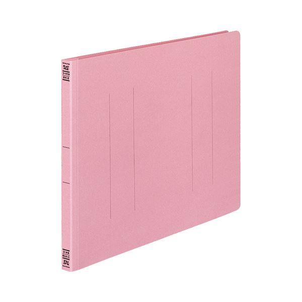 (まとめ) コクヨ フラットファイルV(樹脂製とじ具) B4ヨコ 150枚収容 背幅18mm ピンク フ-V19P 1パック(10冊) 【×10セット】