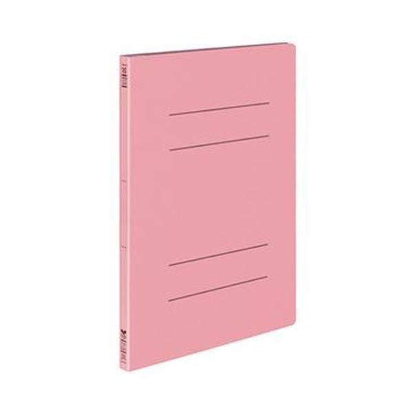 (まとめ)コクヨ フラットファイル(オール紙)A4タテ 100枚収容 背幅18mm ピンク フ-RK10NP 1セット(10冊)【×10セット】