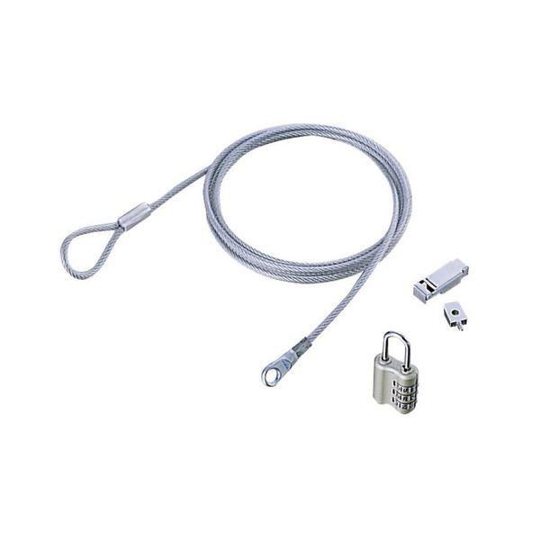 (まとめ) エレコムコネクタ接続セキュリティワイヤーロック ESL-12 1パック 【×10セット】