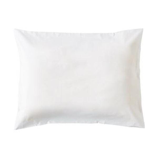 (まとめ)枕カバー 封筒型 50×90cmホワイト 1セット(3枚)【×10セット】