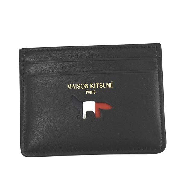 MAISON KITSUNE(メゾンキツネ) カードケース AU05305LC0003 BK BLACK