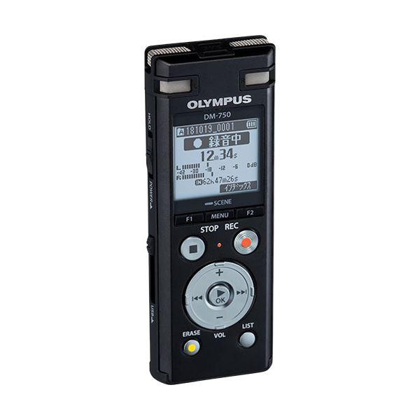 オリンパス ICレコーダーVoice-Trek 4GB ブラック DM-750 BLK 1台