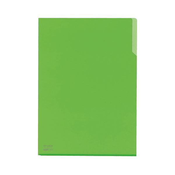 (まとめ) コクヨ クリヤーホルダー10(テン)A4 黄緑 フ-T750-4 1セット(5枚) 【×30セット】