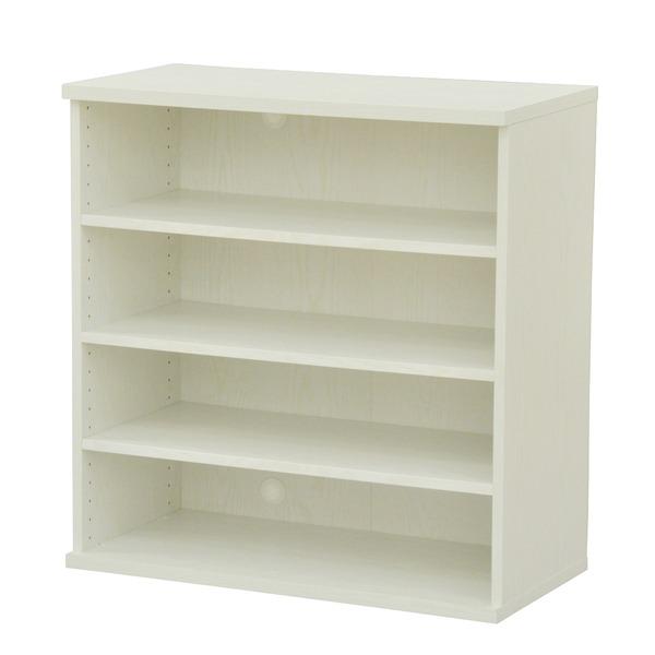 カラーボックス(収納棚/カスタマイズ家具) 4段 幅78.9×高さ81.9cm セレクト9080WH ホワイト【代引不可】