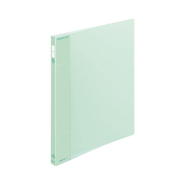 (まとめ) コクヨ ポップリングファイル(スリム) A4タテ 2穴 100枚収容 背幅21mm 緑 フ-PS410G 1冊 【×30セット】