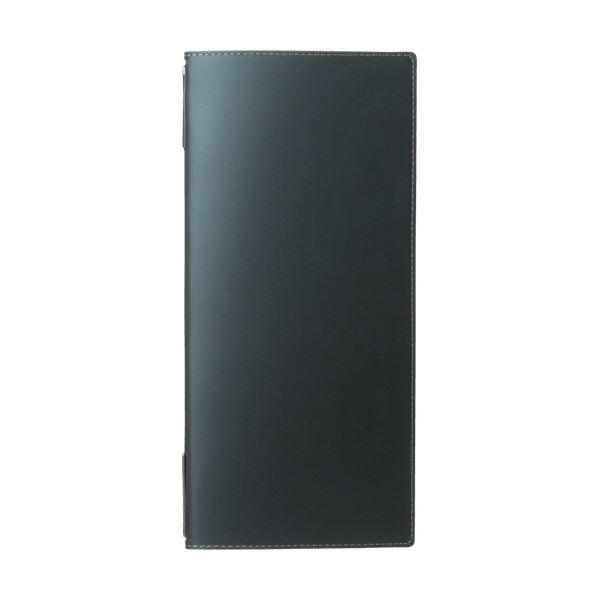(まとめ) プロッシモ リサイクルレザードリンク・デザートメニュー ブラック PRORLDDMBK 1冊 【×5セット】