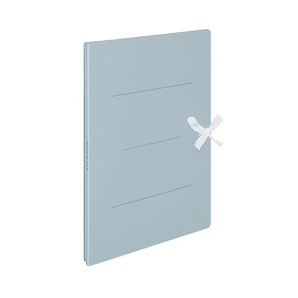 (まとめ) コクヨ ガバットファイル(紙製) A4タテ(ひも付き) 1000枚収容 背幅13~113mm 青 フ-H90B 1セット(10冊) 【×5セット】
