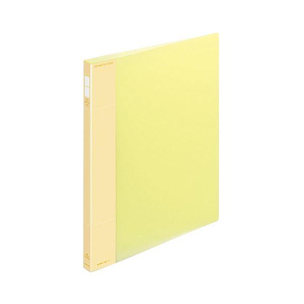 (まとめ) コクヨ ポップリングファイル(スリム) A4タテ 2穴 100枚収容 背幅21mm 黄 フ-PS410Y 1冊 【×30セット】