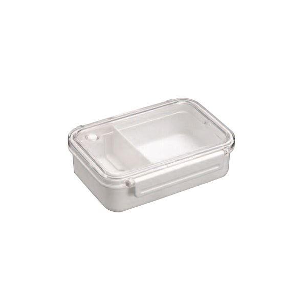 (まとめ) 弁当箱/ランチボックス 【仕切付き】 小容量サイズ シンプル ベーシック ホワイト 『BPビーブ』 【40個セット】