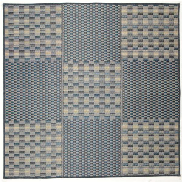 い草コンパクトラグ(裏貼り) キハチ 約180×240cm ブルー【代引不可】