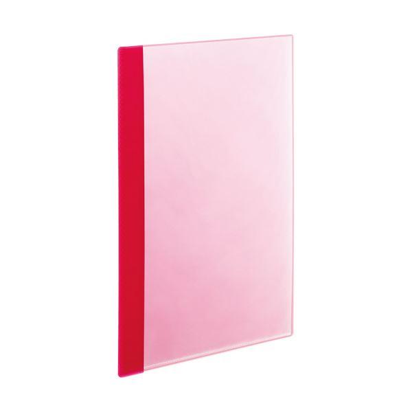 (まとめ) TANOSEE薄型クリアブック(角まる) A4タテ 5ポケット ピンク 1パック(5冊) 【×30セット】