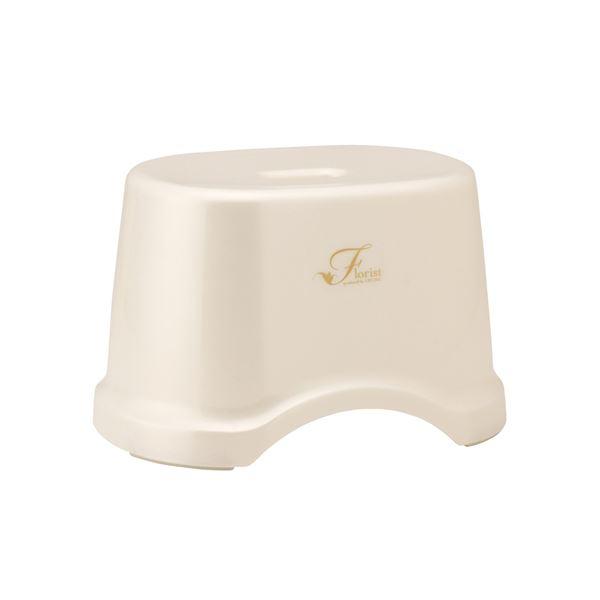 (まとめ) 風呂椅子/バスチェア 【高さ19cm ホワイト】 コンパクトサイズ 底ゴム付き バス用品 『Florist』 【12個セット】