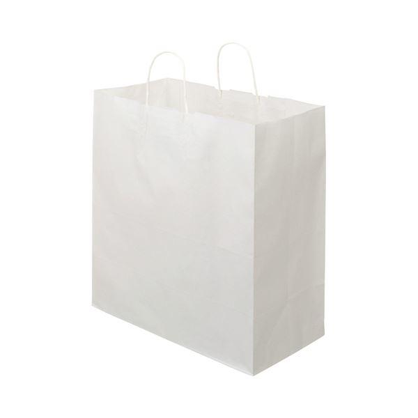 TANOSEE 紙手提袋 丸紐マチ広・特大 ヨコ430×タテ440×マチ幅210mm 白無地 1セット(300枚:50枚×6パック)