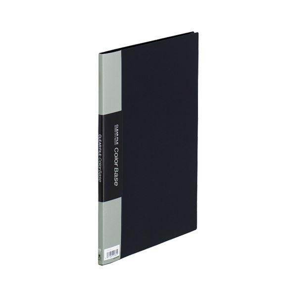 (まとめ) キングジム クリアファイルカラーベースハンディ A4タテ 10ポケット 背幅10mm 黒 132CH 1冊 【×30セット】