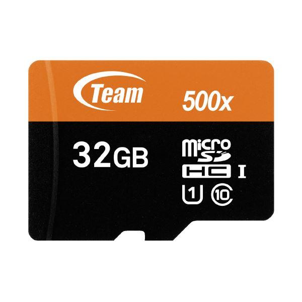 (まとめ)TEAM microSDHCカード 32GB TUSDH32GUHS03(×10セット)