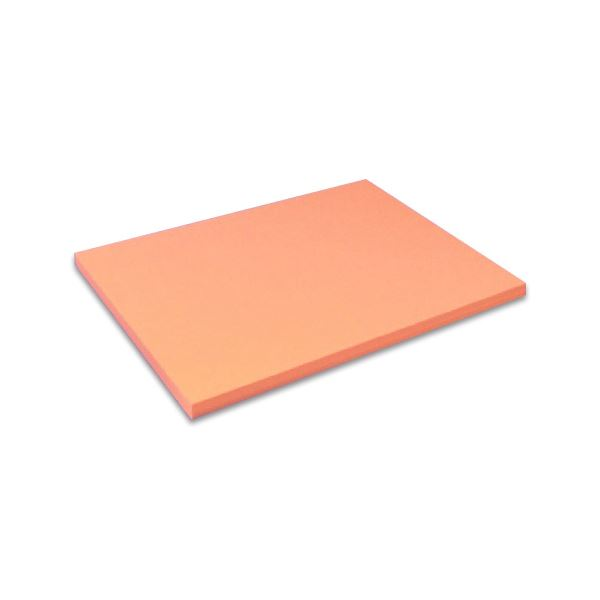 (まとめ) 北越コーポレーション 紀州の色上質A4T目 厚口 アマリリス 1セット(50枚) 【×5セット】