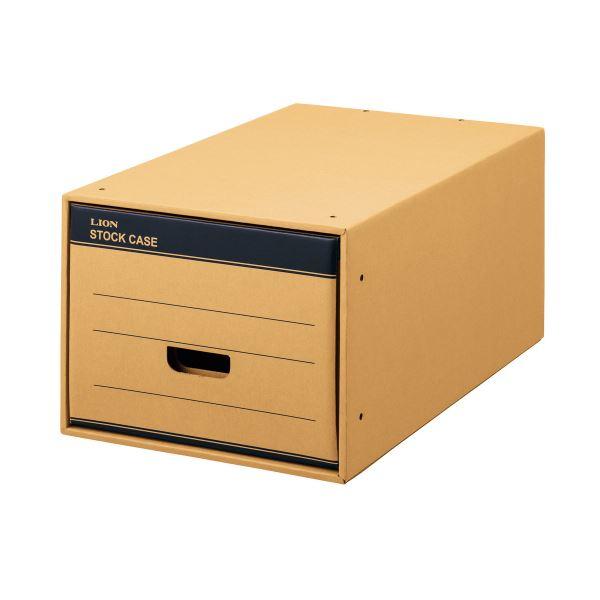 (まとめ) ライオン事務器 ストックケース A4用ロング クラフトタイプ SC-40L 1個 【×5セット】