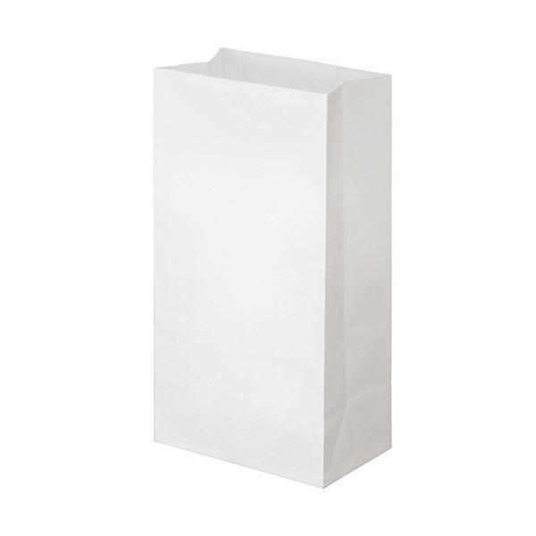 (まとめ) TANOSEE 角底袋 6号ヨコ150×タテ280×マチ幅90mm 晒 1パック(500枚) 【×10セット】
