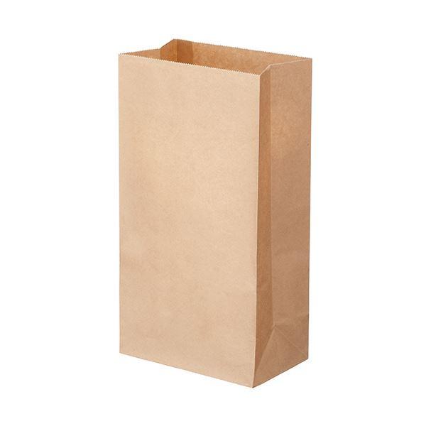 (まとめ) TANOSEE 角底袋 6号ヨコ150×タテ280×マチ幅90mm 未晒 1パック(500枚) 【×10セット】