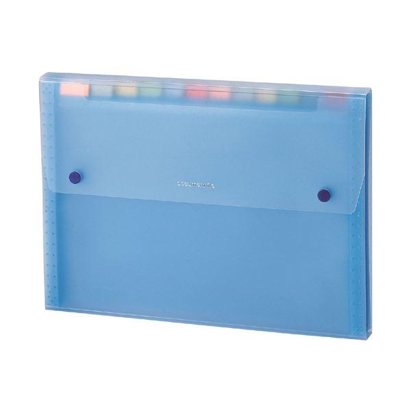 (まとめ) セキセイ ドキュメントファイル A4 13ポケット SSS-1212-10ブルー 1冊 【×30セット】