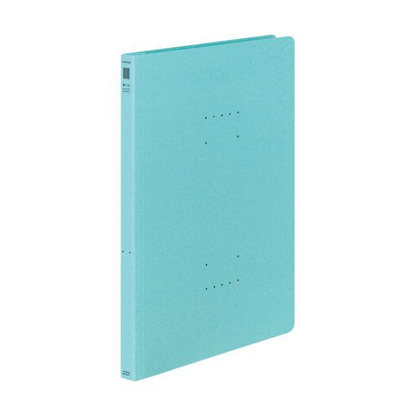 (まとめ) コクヨ フラットファイル(NEOS)A4タテ 150枚収容 背幅18mm ターコイズブルー フ-NE10B 1セット(10冊) 【×30セット】