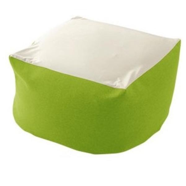 カバーリング ビーズクッション/ビッグクッション 【XLサイズ グリーン】 洗えるカバー 〔リビング雑貨 生活雑貨〕【代引不可】
